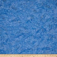 Batik Cotton Blenders Wavy Dots  Bluebird