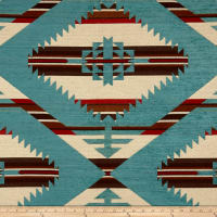 AMERICAN MADE Artistry Tribal Southwest Muddy Gap Chenille Jacquard Sky