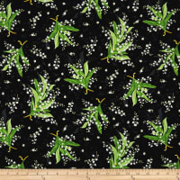 Maywood Studio Greenery Tossed Lily Black