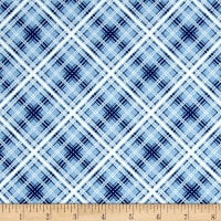 Maywood Studio Hi-de-Ho Diagonal Plaid Blue