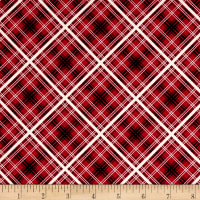 Maywood Studio Hi-de-Ho Diagonal Plaid Red