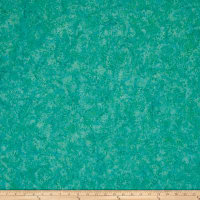 Island Batik Blenders Small Pointed Floral Turquoise