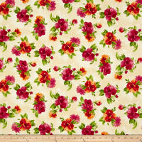 Maywood Studio Paradise Spaced Floral Cream