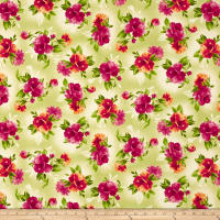 Maywood Studio Paradise Spaced Floral Soft Green