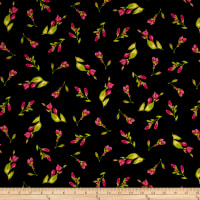 Maywood Studio Paradise Floral Buds Black