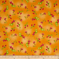 Maywood Studio Paradise Floral Buds Soft Orange