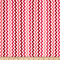 Maywood Studio Kimberbell Lil' Sprout Flannel Too! Zig Zag Peach/Red