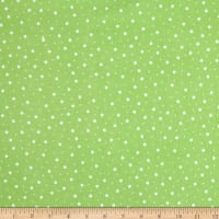 Maywood Studio Kimberbell Lil' Sprout Flannel Too! Random Dots Cool Green/White