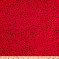 Maywood Studio Kimberbell Lil' Sprout Flannel Too! Random Dots Red/Soft Black