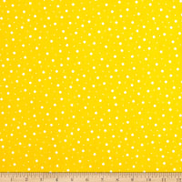 Maywood Studio Kimberbell Lil' Sprout Flannel Too! Random Dots Yellow/White