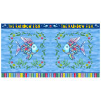 "Rainbow Fish? Pillow 24""Panel Blue"