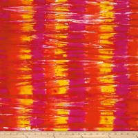 Sarah J Red Sky Batiks Tie-Dye Red