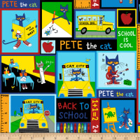 Pete The Cat Back To School Patch Multi Bright
