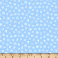 Grumpy Cat Christmas Snowflakes Blue