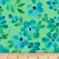 Nancy Rink Sea Glass Water Floral Green