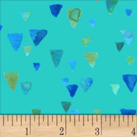 Nancy Rink Sea Glass Shards Med Blue