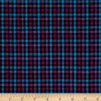 Rustic Wovens Small Plaid Navy/Fuch/Lt Turq