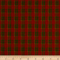 Rustic Wovens Small Plaid Olive/Wine/Orange