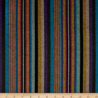 Yarn Dyed Shirting Wide Stripe Black Multi