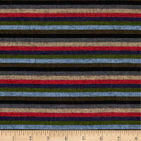 Yarn Dyed Shirting Thin Stripe Navy/Red/Olive/Khaki