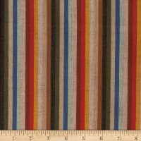 Yarn Dyed Shirting Thin Stripe Gold/Green/Multi
