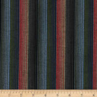Yarn Dyed Shirting Wide Stripe Navy/Red/Olive/Khaki