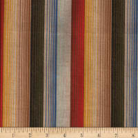 Yarn Dyed Shirting Wide Stripe Gold/Green/Multi