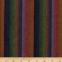 Yarn Dyed Shirting Wide Stripe Blue/Multi