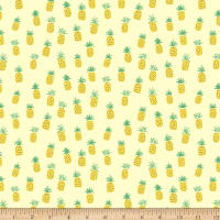 Dear Stella Jersey Knit Pineapples Lemon
