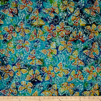 Jewel Box Batiks Butterfly Blu/Prp/Grn
