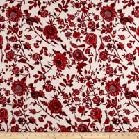Liverpool Knit Romantic Floral Red on Ivory