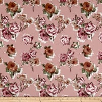 Liverpool Knit Roses Mauve on Blush