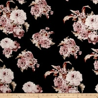 Liverpool Knit Floral Blush on Black