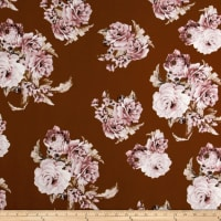 Liverpool Knit Floral Blush on Rust