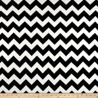 Rayon Spandex Jersey Knit Chevron Black/White