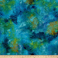 Abstract Stripe Batik Blue/Green
