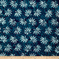 Blue Bazaar Batik Leaves Blue