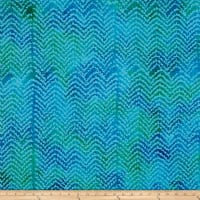 Cascades Flame Stitch Batik Blue