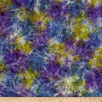Swirl Mini Leaf Batik Green/Purple