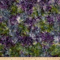 Swirl Splash Batik Green/Purple