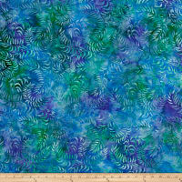 Sweeping Vine Batik Lt Blue/Purple/Green