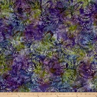 Sweeping Vine Batik Green/Purple