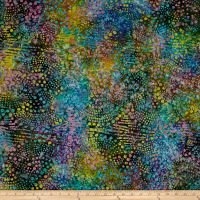 Fancy Dot Batik Teal/Purple/Yellow