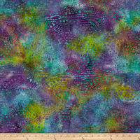 Fancy Dot Batik Blue/Purple/Teal/Yellow