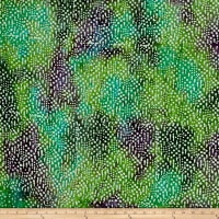 Tear Drop Dots Batik Teal/Green/Purple