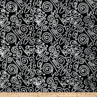 Abstract Batik White/ Black