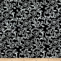 Large Scroll Batik White/Black