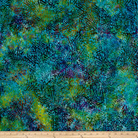 Abstract Batik Teal/Purple/Green