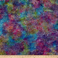 Abstract Batik Purple/Teal/Fuchsia
