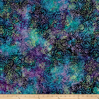 Medallion Batik Teal/Purple/Blue